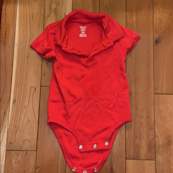 Carter's Other - EUC Collared Red Onesie